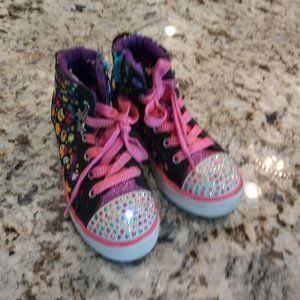 Skechers Twinkle Light Up Toes Hi-Top Shoes Girls